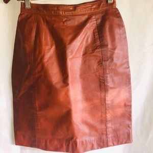 High waisted vintage Leather Skirt
